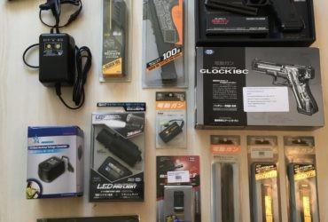 Glock 18C AEP Tokyo Marui + accessoires :