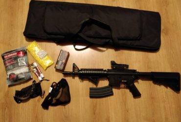 Fusil Colt M4A1 CQBR (Cybergun) + Accessoires