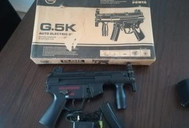Galaxy Airsoft MP5K Heckler & Koch Noir AEG (0.5 J) G5K