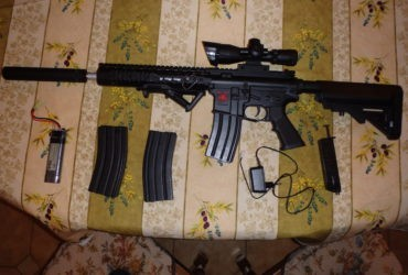 Fusil d'assaut ASR Spyder + lunette de visée Duel Code + silencieux