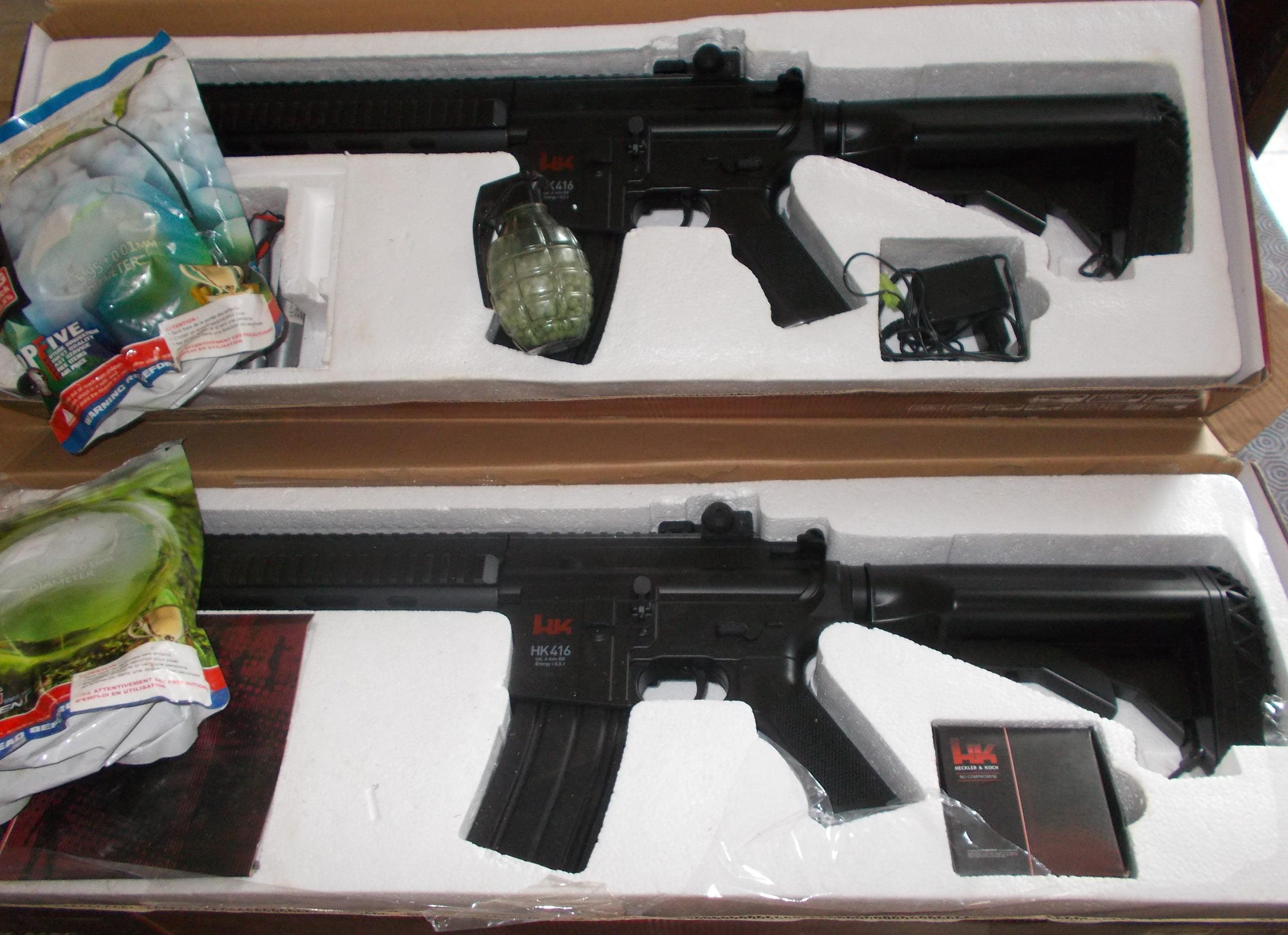 LOT DE 2 REPLIQUES HK 416 C