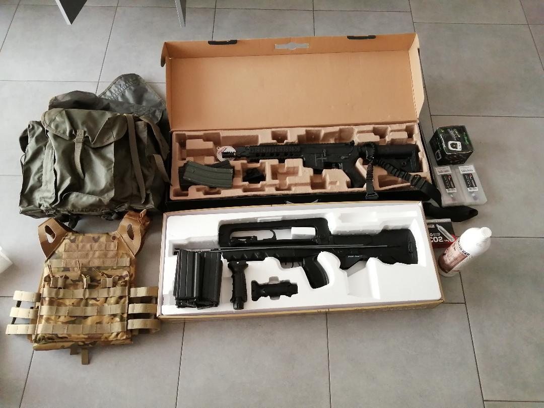 Vend matériel d'airsoft (répliques et accessoires)