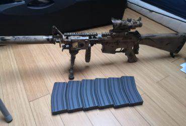 M4 AEG style SR25 + 6 midcap 130