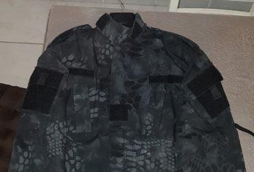 """veste + pantalon camo urbain type """"Viper"""" gris foncé – taille M"""