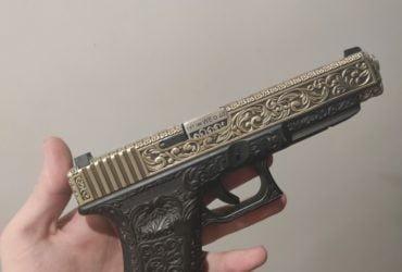 "Magnifique glock 17 airsoft ""floral Pattern"""