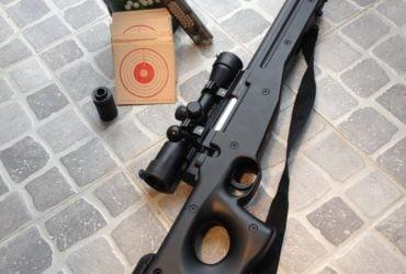 Sniper AWG308 avec lunette, 3000 billes, cibles (AIRSOFT)