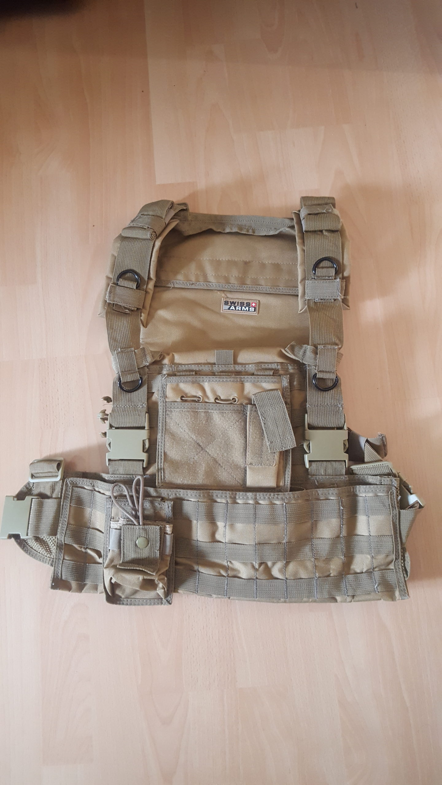 Gillet Tactique Tiras beige multi poches