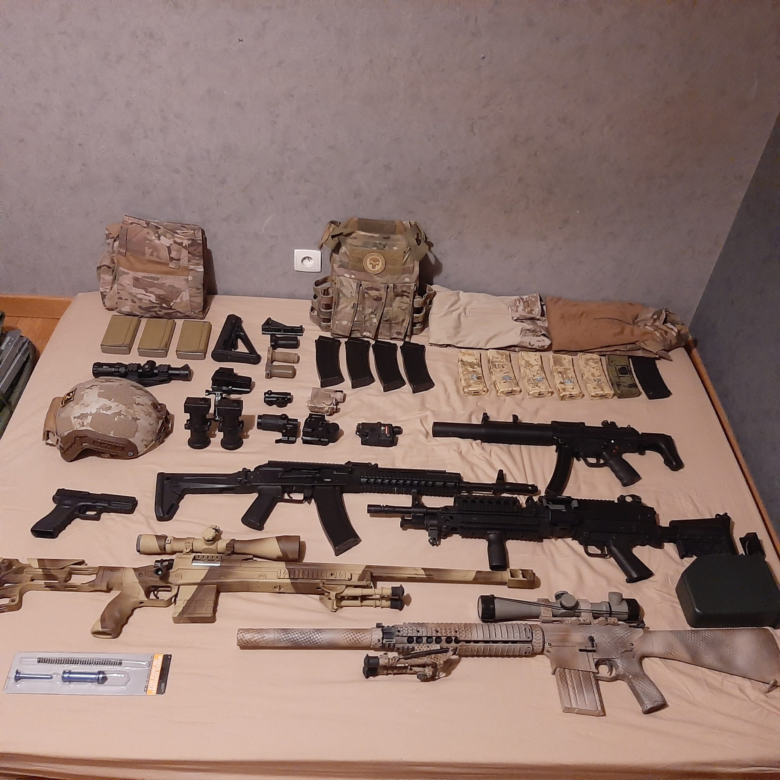 Enorme lot Airsoft