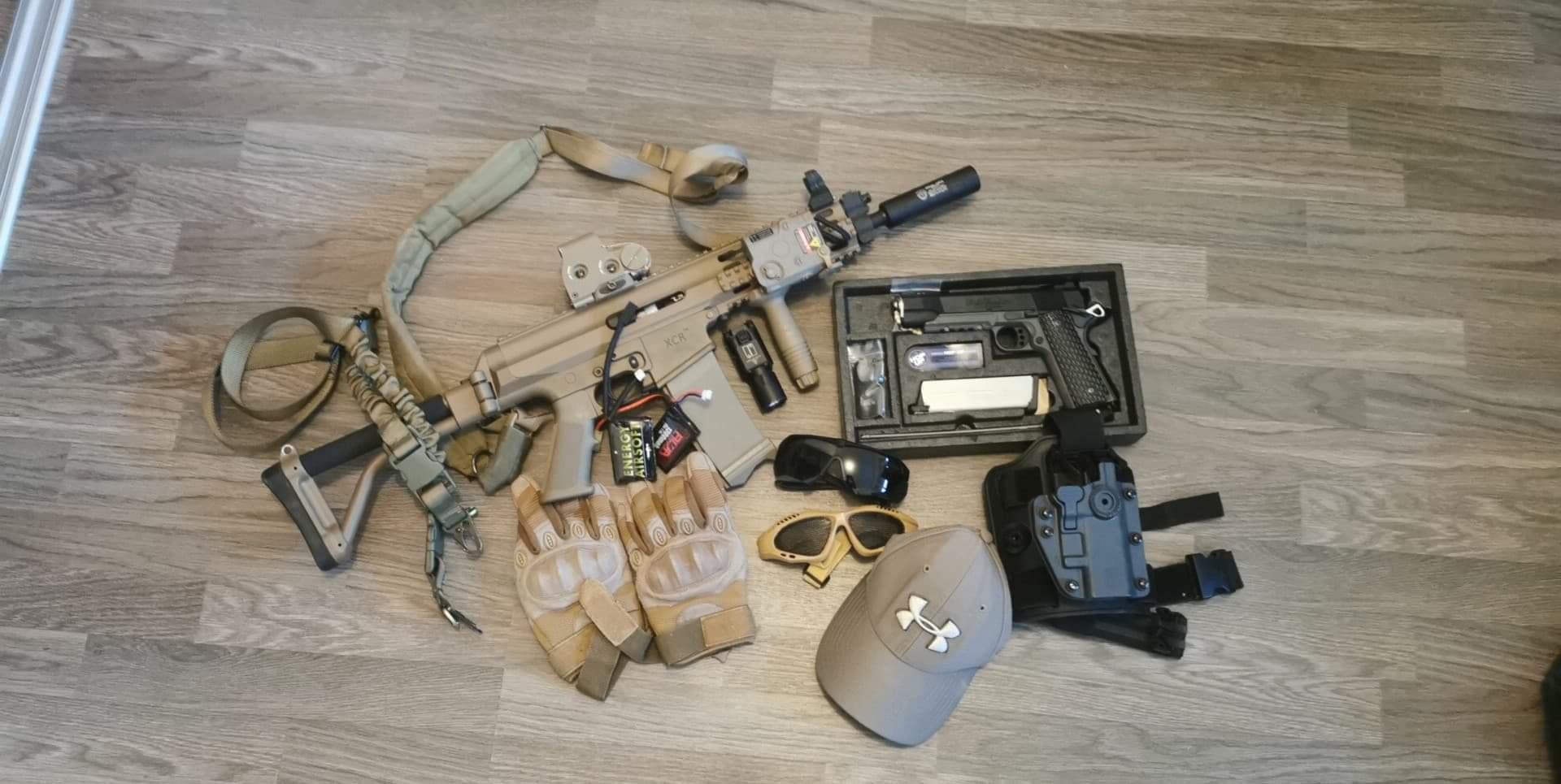 Xcr vfc + 1911 marui + équipements divers