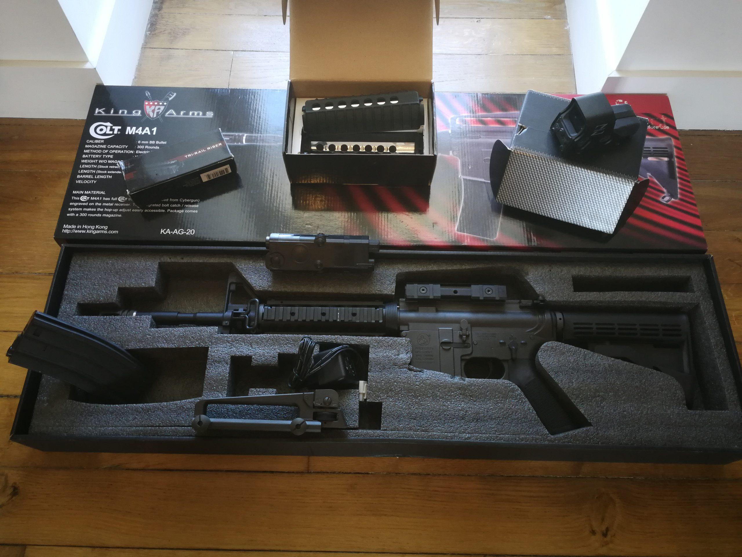 M4 A1 1,4 joule AEG  + Accessoires