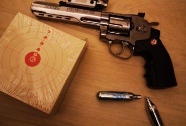 replique RUGER Revolver Super Hawk 8 pouces silver 6mm